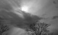 Sky And Clouds Above Bar Beach; Port Washington, New York