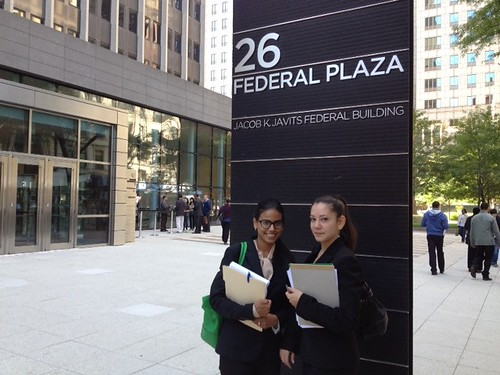 Our students are often presenting cases as part of the clinic work, at 26 Federal Plaza, which houses an immigration court.