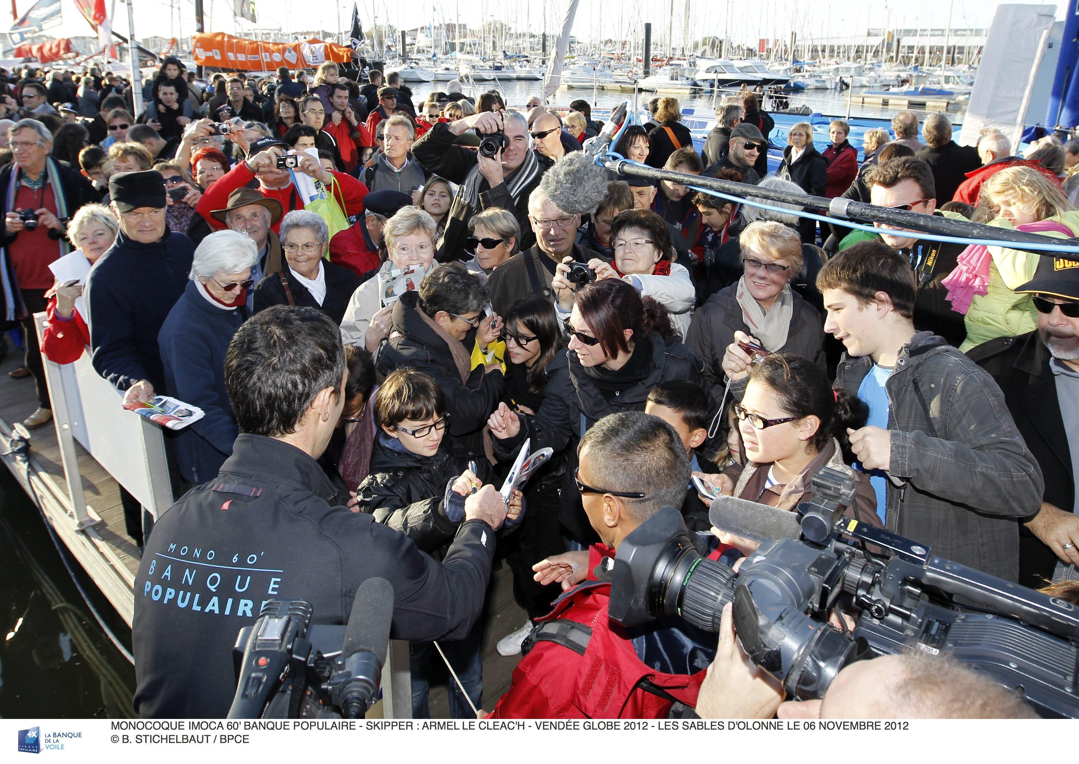 Ambiance ponton Vendée Globe 2012 - 08/11/2012 ©B. Stichelbaut/BPCE
