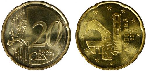 20 centov Andorra 2014, obehová