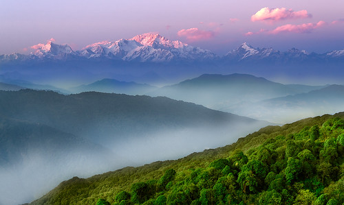 light sunset sky cloud landscape mt himalaya kanchengangha