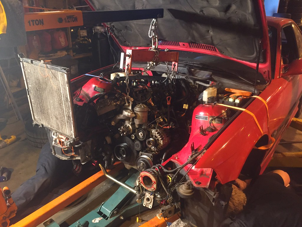 Diy Bimmerman325is 1995 M3 With An S54 Mk60 Certified California Thread Engine Swap Wiring Gremlins We Then Lowered The Car Slowly Onto Waiting Sub Assembly