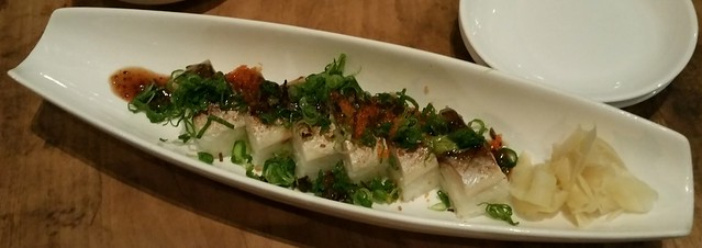 2016-Jan-27 Kingyo - pressed mackerel sushi