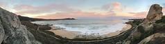 Panorama/Carmel Bay at sunrise