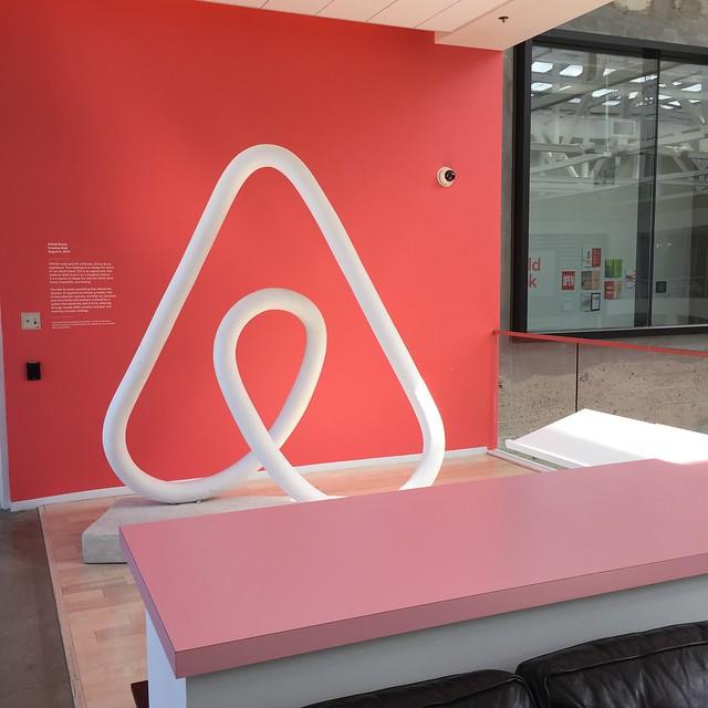 Airbnb의 사무실 내부