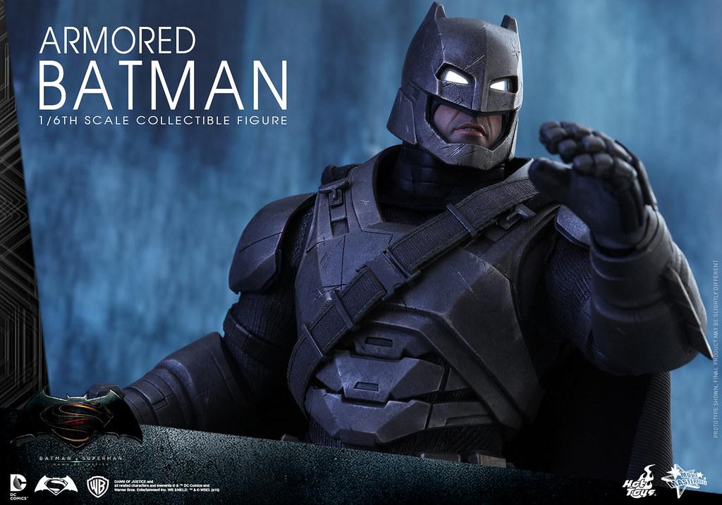 Hot Toys – MMS349 – 蝙蝠俠對超人:正義曙光【重裝蝙蝠俠】Armored Batman 1/6 比例人偶作品
