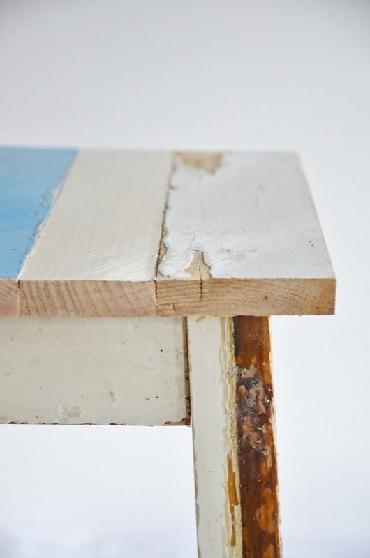 wood & wood stool