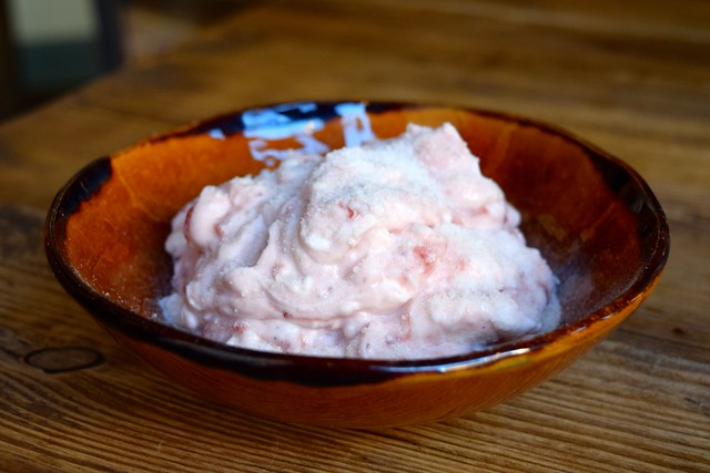 Strawberry & Masticha Greek Yogurt at Zeus, Canterbury | www.rachelphipps.com @rachelphipps