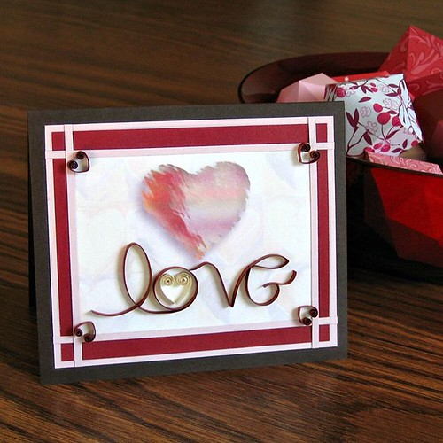 Love Card with On-Edge Paper Lettering