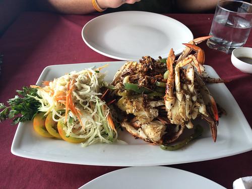 Kep: du crabe grillé au poivre de Kampot pour ce midi