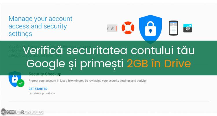 2gb spatiu de stocare gratuit Google drive