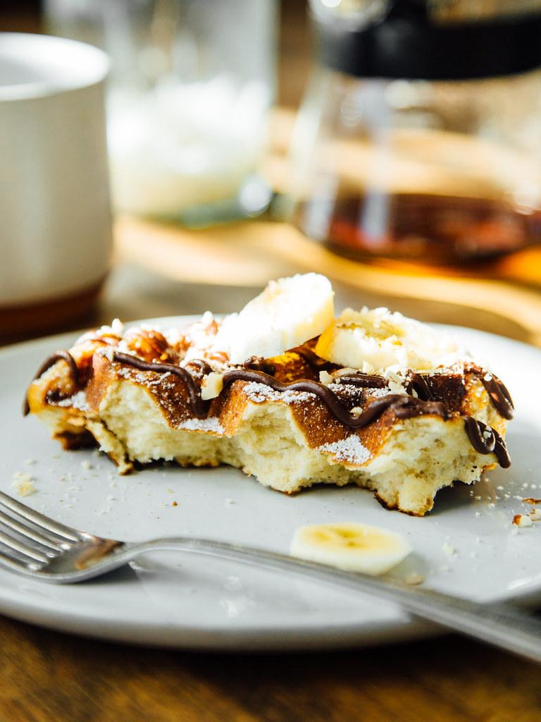 Day-old pearl sugar waffles