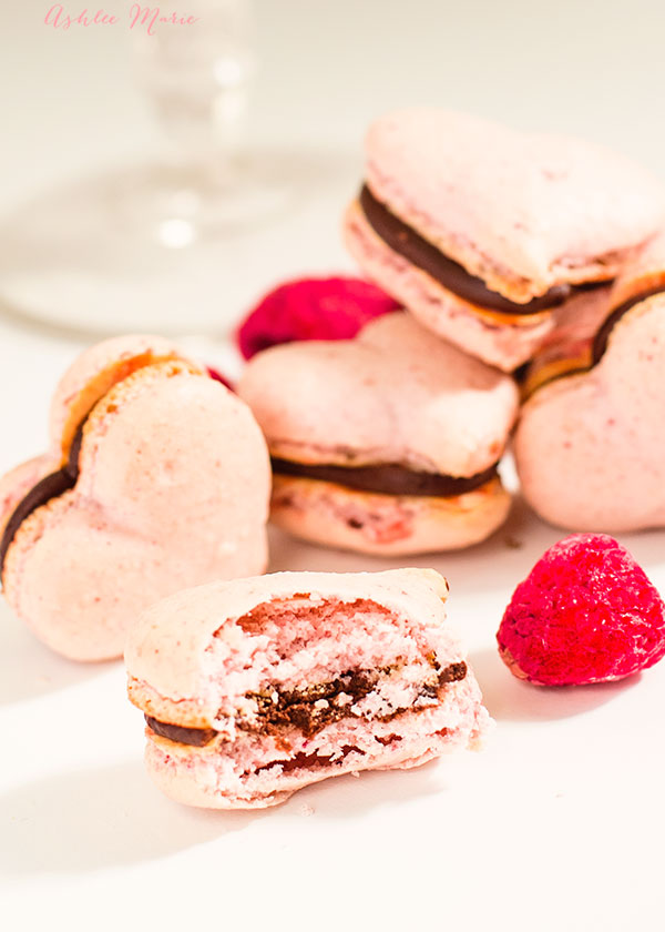 it's valentines day and what's better than raspberry and chocolate? when they are pink and heart shaped!