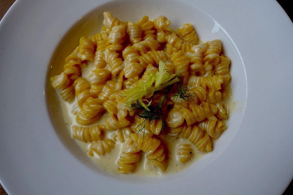 Fresh Fusilli Pasta with Cheese Sauce, Pasta Remoli, Finsbury Park