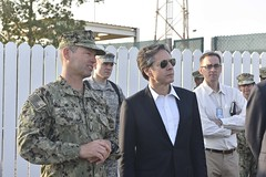 Deputy Secretary of State Antony 'Tony' Blinken receives a walking tour of Camp Lemonnier, the primary base of operations for U.S. Africa Command in the Horn of Africa, in Djibouti on February 9. 2016. [State Department photo/ Public Domain]