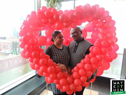 Ballonnenhart als Fotolijst Valentijnsdag Watertuin Spijkenisse