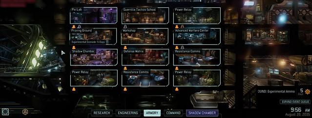 XCOM 2 Avenger Einrichtungen