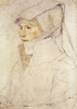 Hans Holbein the Younger — Portrait of Dorothea Meyer, 1526 Drawing: Chalks on paper with lead point on contours// via artofdarkness.co