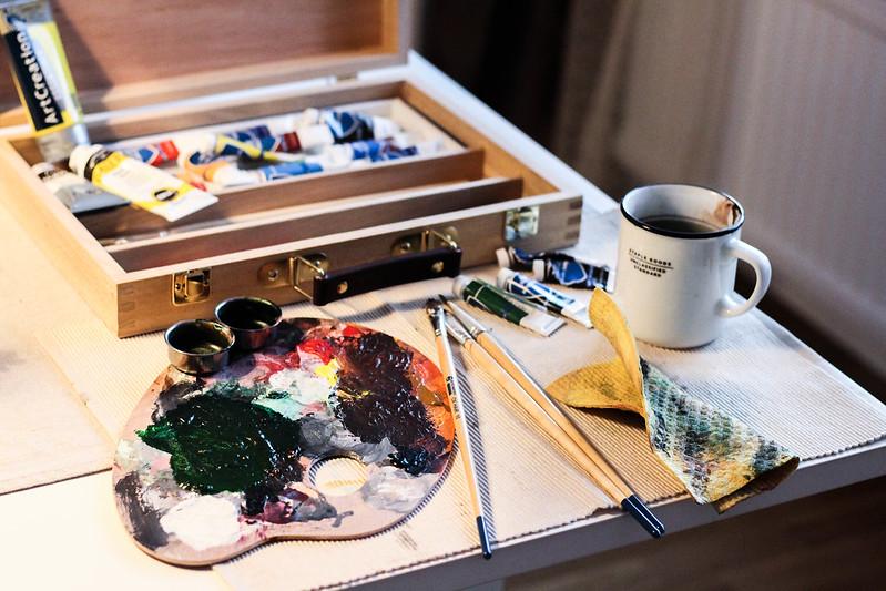 akrylmålning kit