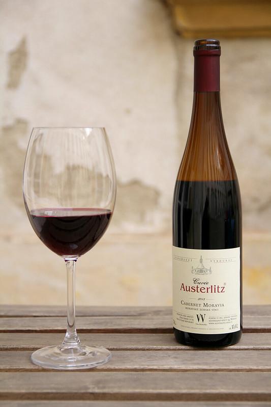 Autentické víno Cabernet Moravia