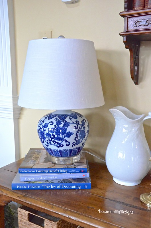 Blue and White Lamp - Housepitality Designs