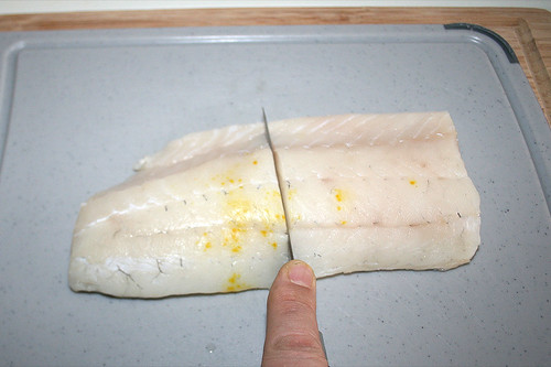 41 - Zander halbieren / Cut zander in halfs