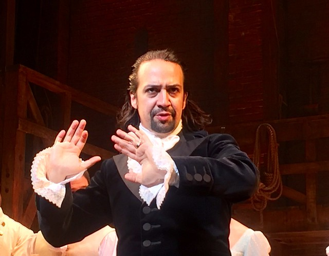 Hamilton, live in NY today. Who knew rap was the format I needed to learn history! Thx Lin-Manuel Miranda from Flickr via Wylio