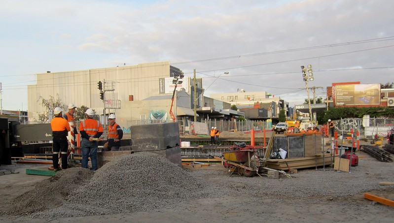 Mckinnon bridge construction during level crossing removal works