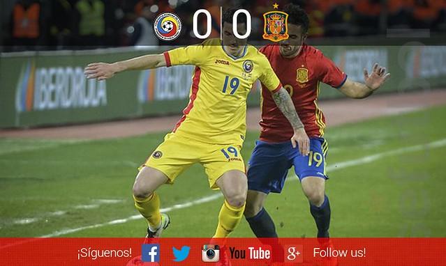 Amistoso Selecciones: Rumanía 0 - España 0