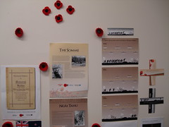 Anzac display, Hornby Library