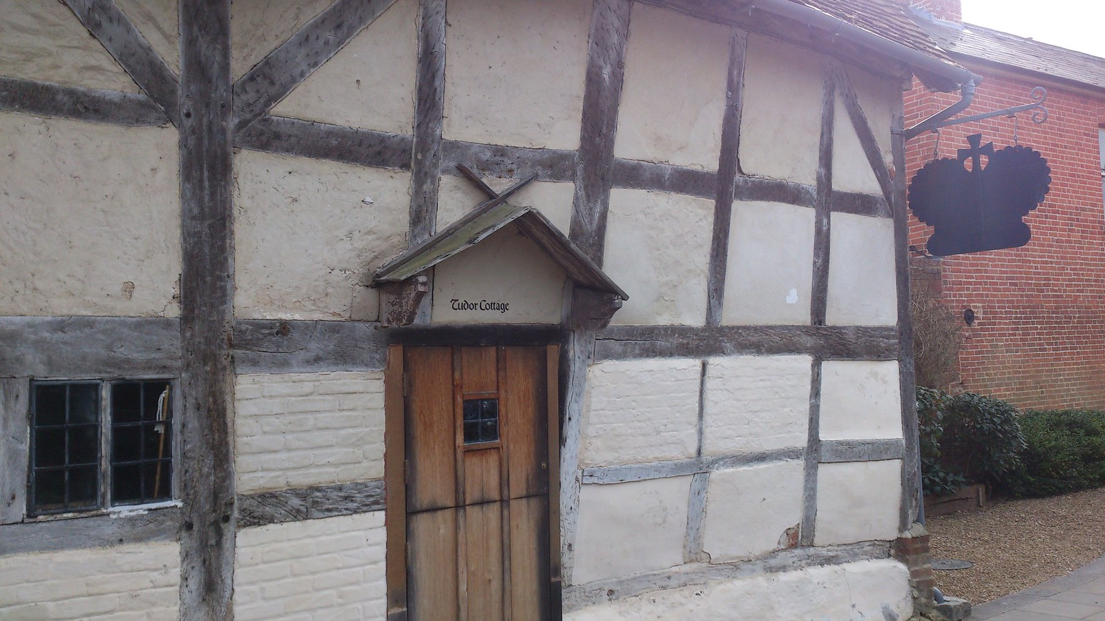 King John's House and Tudor Cottage, entrance SWC Walk 58 Mottisfont and Dunbridge to Romsey