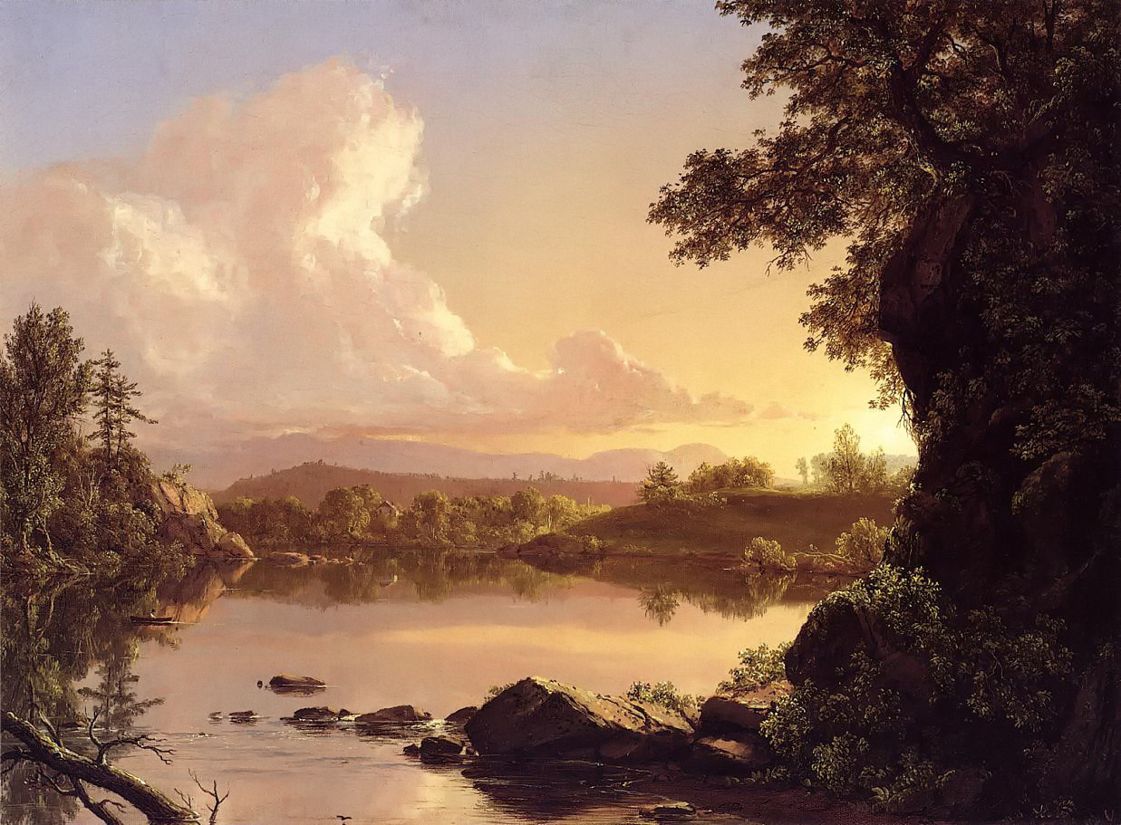 Scene on the Catskill Creek, New York by Frederic Edwin Church, 1847