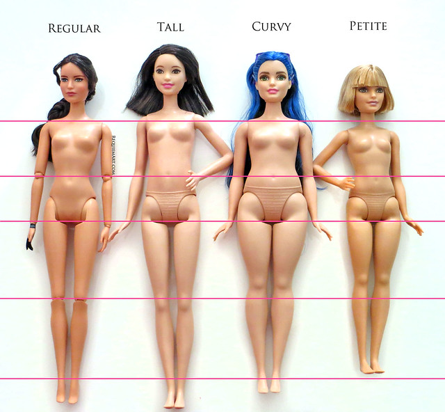 Barbie Regular, Tall, Curvy & Petite
