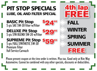 2- Eng. Pit Stop Specials - Rite Way Spring AD2