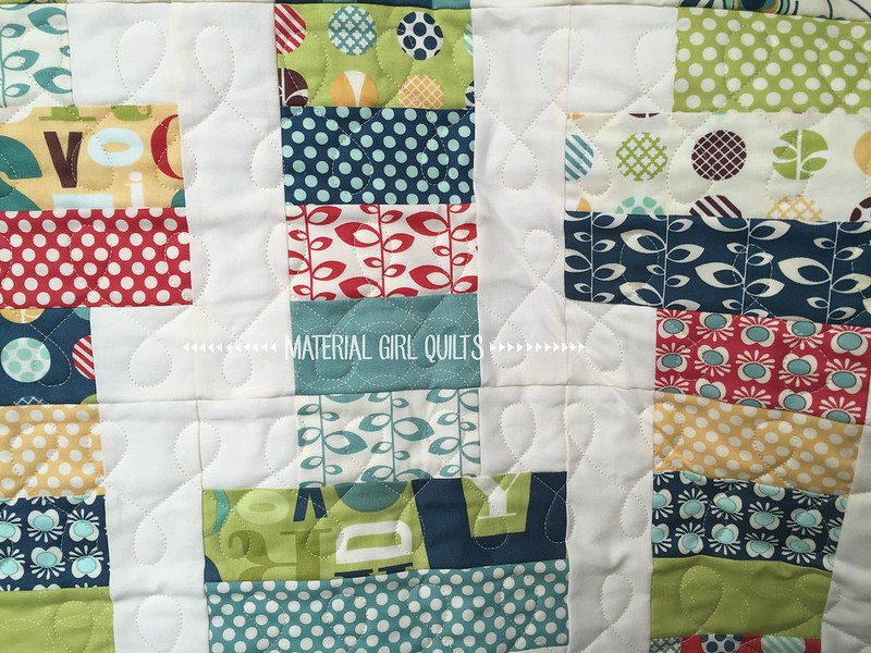 Jelly Roll Slice quilting