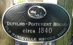 Photo of Dufilho-Poitevent House black plaque