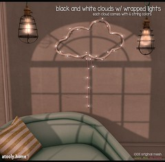 [atooly.home] cloud with wrapped lights