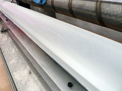 Ice core with ridged pattern on its surface