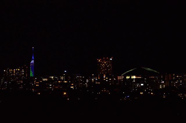 クリスマスの夜_福岡タワー・ヒルトン・ヤフオクドーム