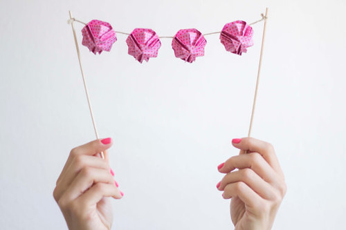 Origami Cake Topper by Little Ray of Sunflower