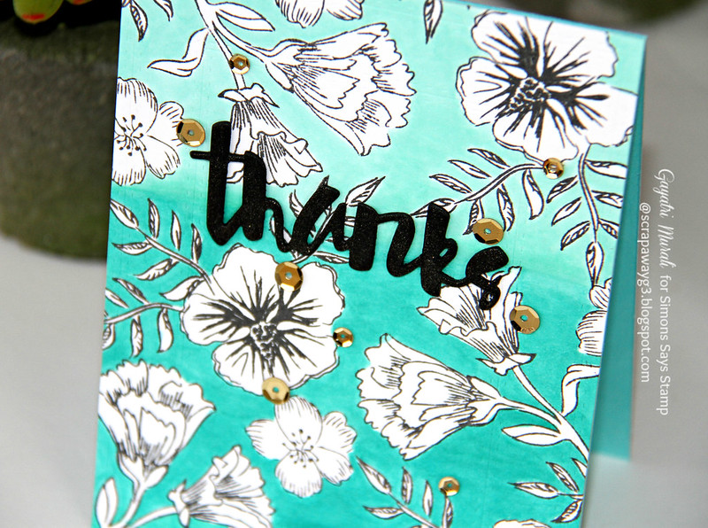 Thanks OMbre card closeup