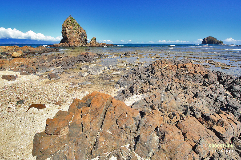 Diguisit Beach and its seashore rocks