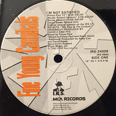FINE YOUNG CANNIBALS:I'M NOT SATISFIED(LABEL SIDE-A)
