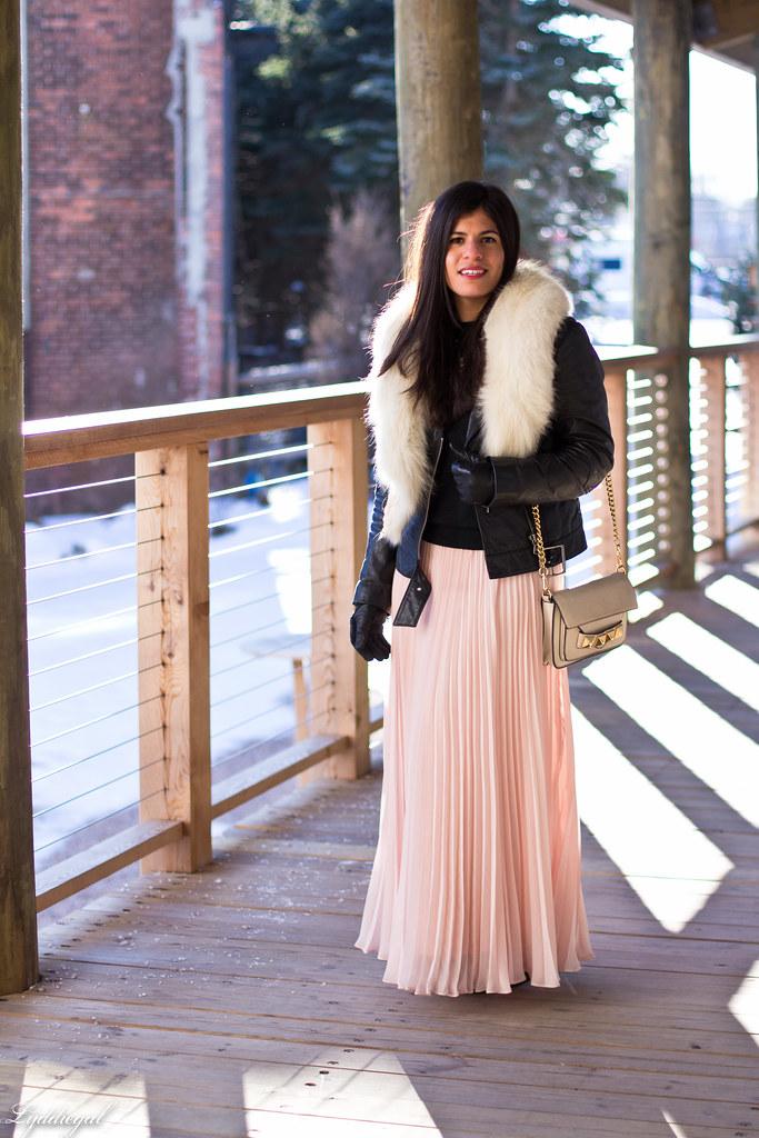 blush pleated maxi skirt, leather moto jacket, fur collar-4.jpg