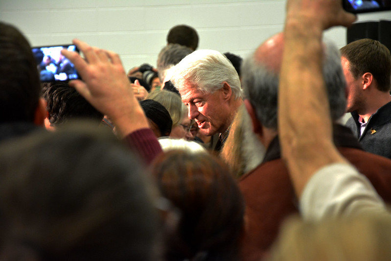 Bill Clinton Comes to Northwest Junior High School 2016