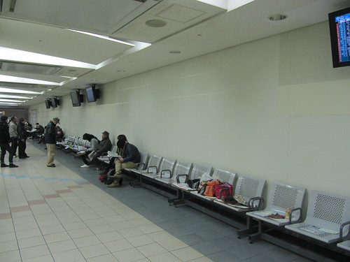 京都競馬場のベンチ