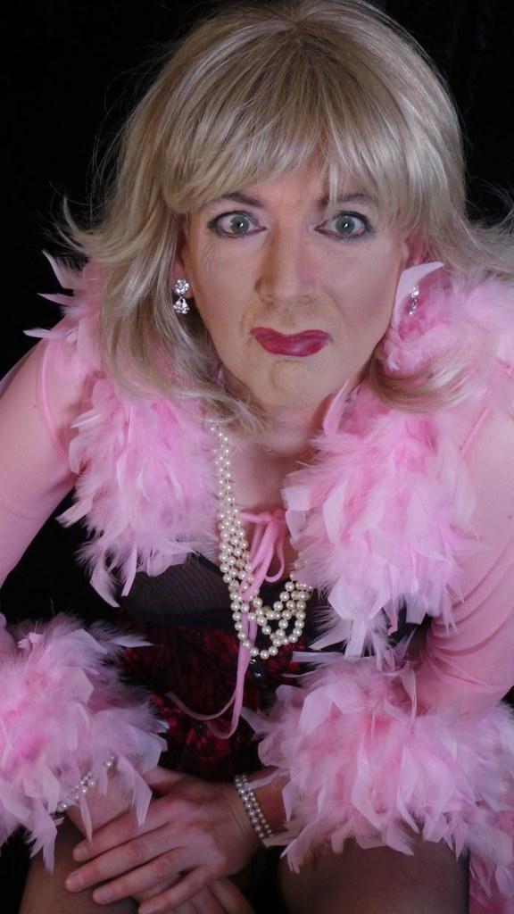 Transvestite feather boa think, that