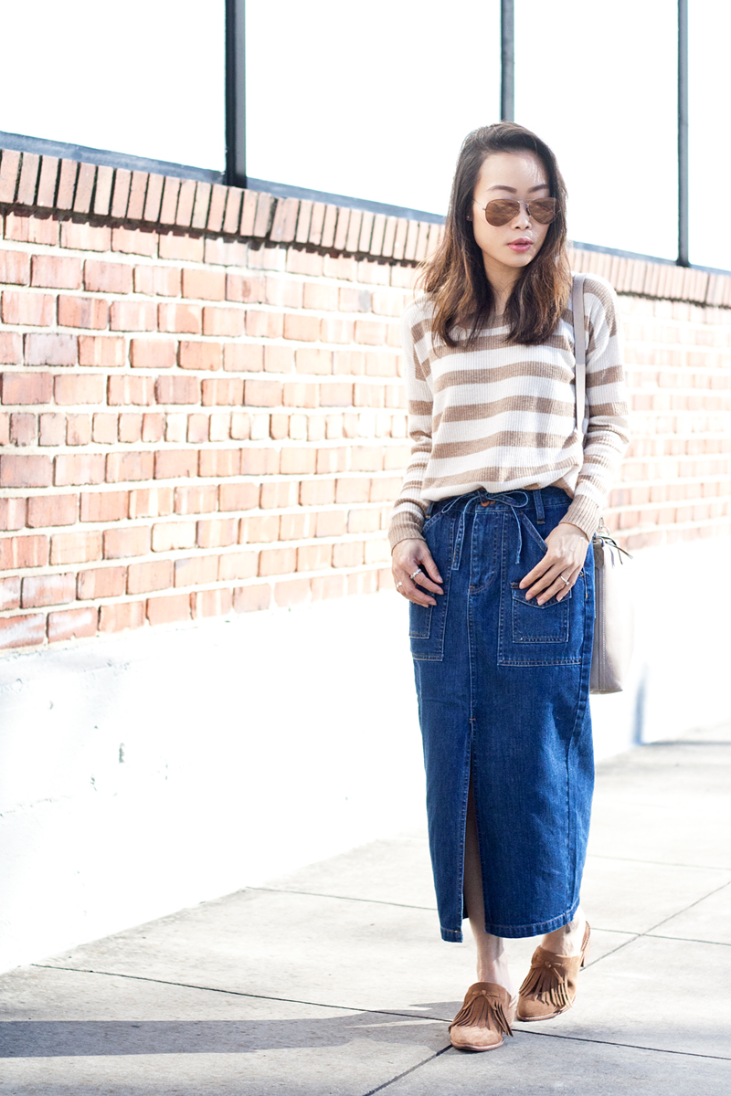06madewell-denim-skirt-stripes-sweater-suede-mules