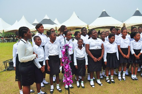 The primary school choir perform at the annual St Louis Jubilee School Family Day