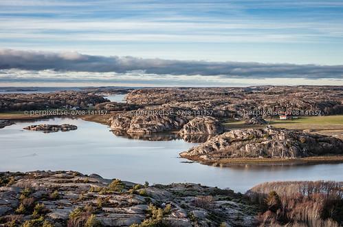 3 natur sverige höst swe västragötaland bovallstrand flygfoto valön furön